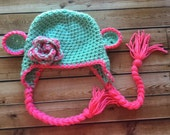 Crochet  Monkey  Hat, photography prop,0 to 3 months, crochet hat, Monkey hat