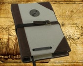 "Blank Leather Book - ""The Adventure Journal or Sketchbook"""