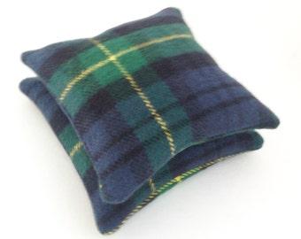 Balsam Sachets Blue and Green Plaid Pine Scent Balsam Fir Set of Two
