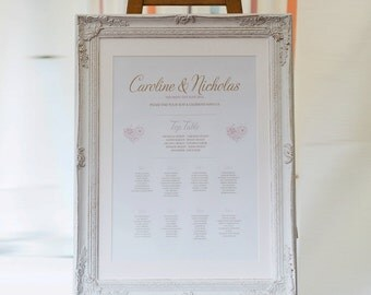 Table Seating Plan Poster - Lila Wedding Range