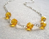 Chloe - Sunshine Yellow Necklace, Ready to Ship