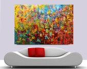 Acrylic Painting on Canvas palette knife Contemporary colors.Only today sale