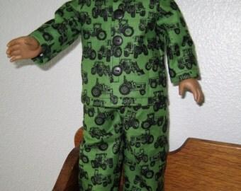 18 inch Doll Clothes American Girl or Boy - John Deere Pajamas, PJs