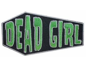 Dead Girl Coffin Casket Horror Kreepsville Embroidered Iron On Applique Patch