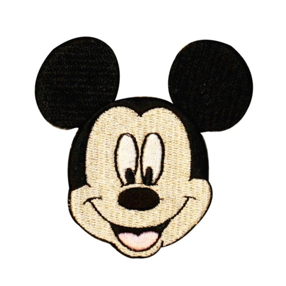 Mickey mouse face patch disney mascot character craft apparel
