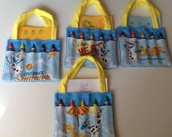 Olaf Children's Crayon Bag, Birthday Party Favor