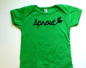 Sprout - Baby Lap Tee - Green Onesie Top - Gardening - Bean Sprout