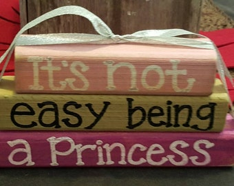 It's not easy being a Princess - Wood block set