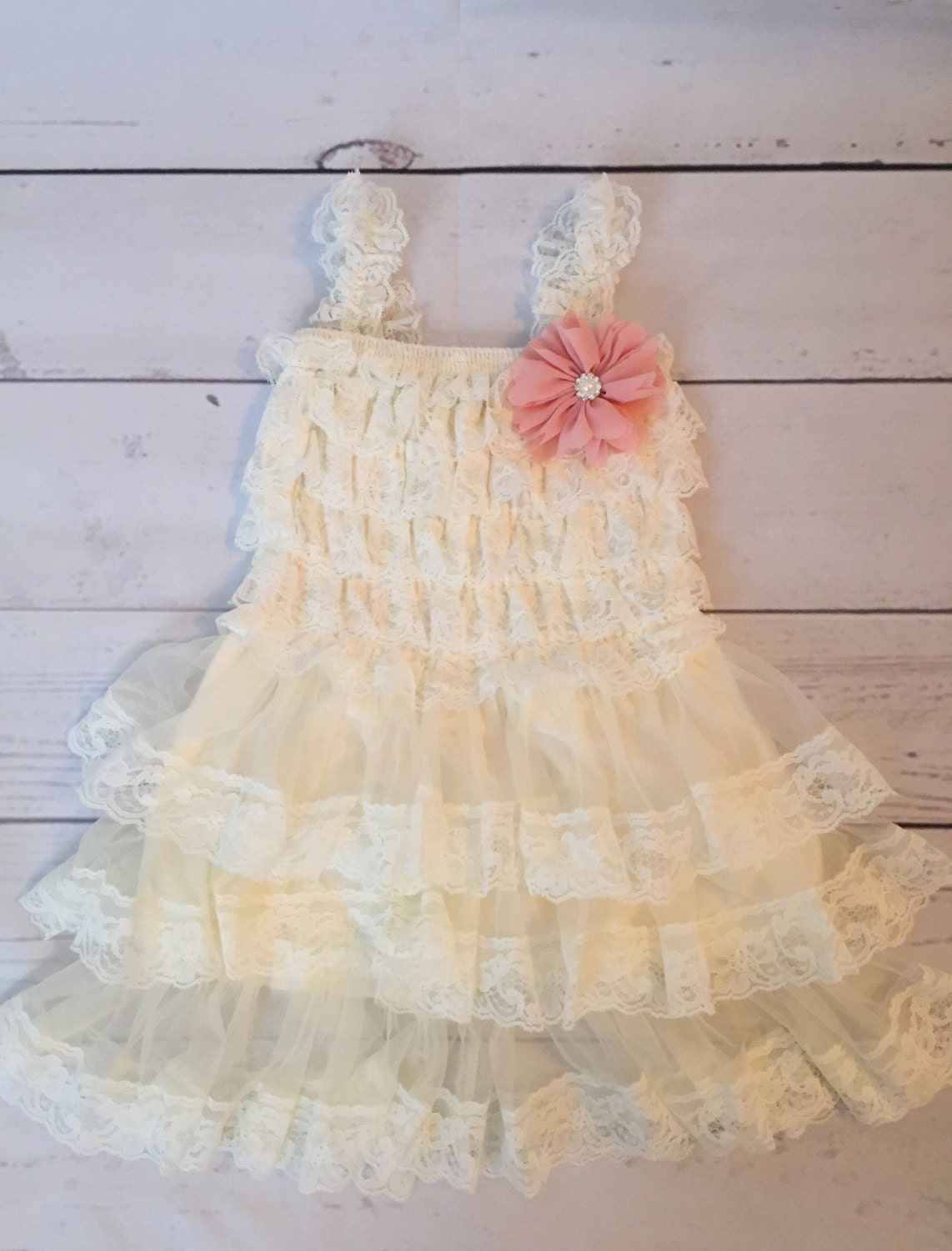Lace flower girl dress rustic flower girl by IssaBugsBoutique