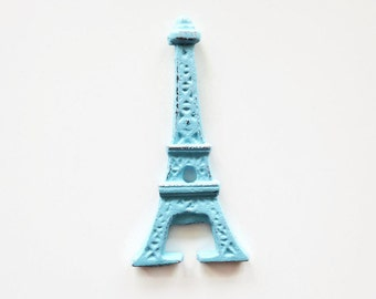 Eiffel Tower Bottle Opener. Paris Party Favors. French Decor. Aqua Cast Iron. Gifts for Her. Ooh La La Bachelorette Party. Bar Cart Decor.