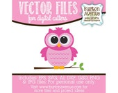 Owl Vector Digital Cut File (eps,svg, gsd,dxf, ai, jpg, png)