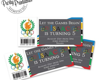Olympic Party Ticket Invitation | Olympic Party Invitation Printable | Olympic Party | Party Printables
