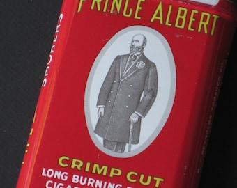 Antique Prince Albert Tobacco Tin Can - Box, Supply, Storage, Display, Advertising
