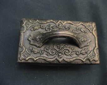 Vintage Brass and Steel Ink Blotter #12265