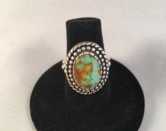 Navajo Sterling Silver with Turquoise Ring Size 6