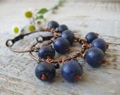 Boho blueberries earrings Big Hoop Earrings