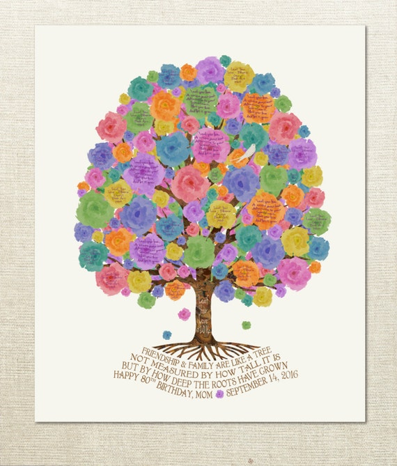 70th Birthday Gift Idea Leaf A Message On The