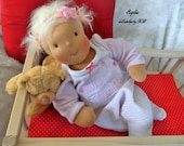 About 18/19 inch handmade Waldorf Baby Doll girl cloth doll waldorf doll human figure doll ready to go