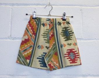 Upcycled Aztec Kids Shorts