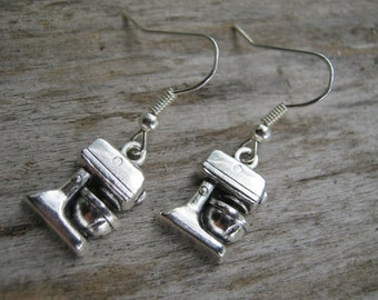 Stand Mixer Earrings, Antiqued Silver Earrings, Baker Earrings, Chef Jewelry, Blender Earrings, Baking Earrings, READY To SHIP