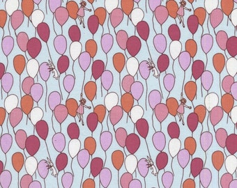Sarah Jane Fabric - 1/2 Metre Balloons in Aqua Children at Play for Michael Miller