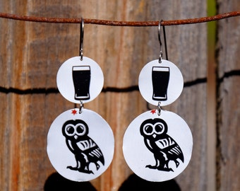 Craft Beer Can Earrings