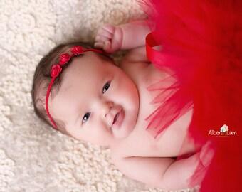 RED TUTU SET, Newborn Tutu, Red Tutu, Christmas Tutu, Newborn Christmas Tutu, Newborn Photo Prop, Newborn prop, Newborn Tutu, Red Tutus