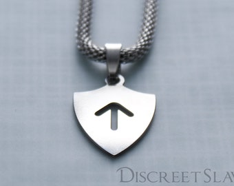 Stainless steel Master's shield II. Pendant for owners, Dominant or Masters in a BDSM relationship. Limited Stainless steel collection
