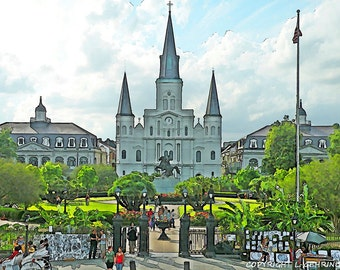 New Orleans French Quarter St. Louis Cathedral 11x14 Limited Edition Print