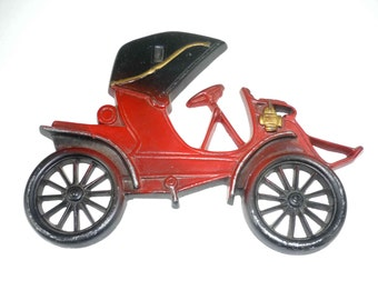Vintage Red Old Car Wall Decoration Cast Metal Midwest 211