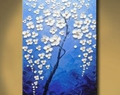 contemporary wall art,Palette Knife Painting,colorful Flower painting,wall decor ,Home Decor,Acrylic Textured Painting ON Canvas by Chen h08