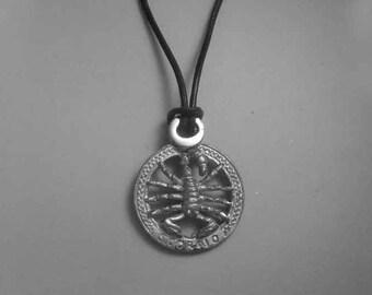 Scorpio zodiac sterling silver 925 charm pendant necklace horoscope zodiaque pendants