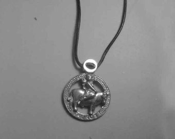 Taurus zodiac sterling silver 925 charm pendant necklace horoscope zodiaque pendants
