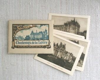 20 vintage french photos, Photo on cardboard, Sepia, Châteaux de la Loire, France, Paris, 1940, Old paper, Ephemera, Antique photo