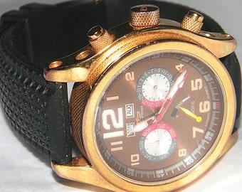 Mens Daniel Steiger Automatic Pacific 40 Jewels Calendar Watch