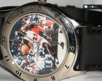 SALE - Vintage Wilson Michael Jordan Chicago Bulls #23 NBA Basketball Sports Watch