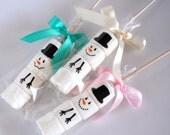 Marshmallow favor Snowman hot chocolate gift idea blizzard fun build a snowman winter party favor hostess gift