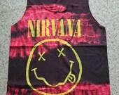 GRUNGE Rock Punk Indie Alternative Garage Band Tie Dyed Tank Top