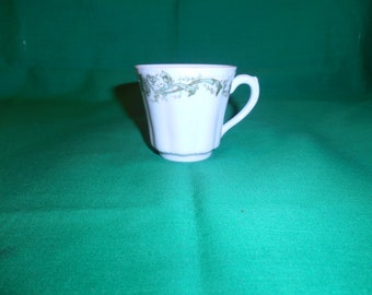 Two (2), Porcelain, Demitasse Cups, from Bassett-Austria, Limoges, in the BSS 11 Pattern..