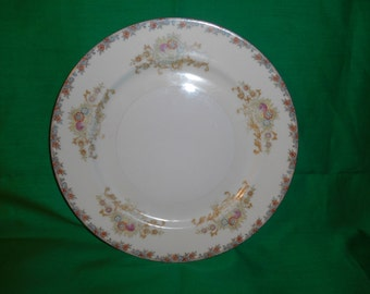 """One (1), 9 3/4"""" Porcelain Dinner Plate, from Royal Chester, in the RLC 3 Pattern."""