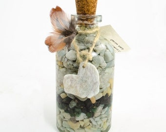 Crystalline Decanter for the Goddess with Aquamarine, Emerald & Moonstone