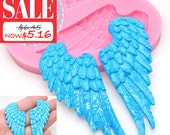 20% Off Angel Wings Mold 429L* Cake Decoration Cake topping Fondant Chocolate Melts Candy Jewleery fimo Mold BEST QUALITY