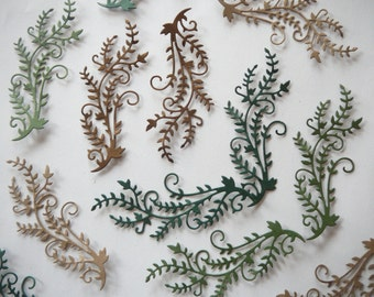 8pc Vine Die Cut Embellishments for Scrapbooking & Card Making