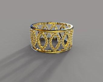 solid gold filigree band