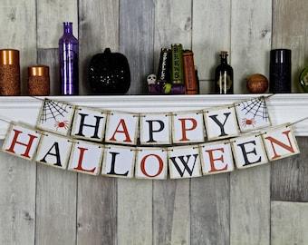 Halloween Banner, Halloween Decor,  Halloween Garland, Halloween Party, Happy Halloween, Halloween Sign, Halloween, Halloween Bunting