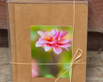 Flower card pack, kraft paper, mini cards, photographic, handmade