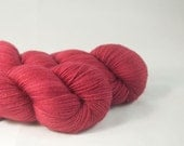 Hand Dyed Merino / Nylon Sock Yarn Dark Rose
