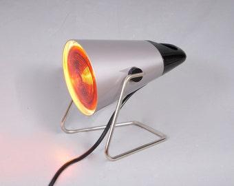 Vintage 1980 PHILIPS Infraphil UltraViolet UV Table Healing Lamp In Original Box