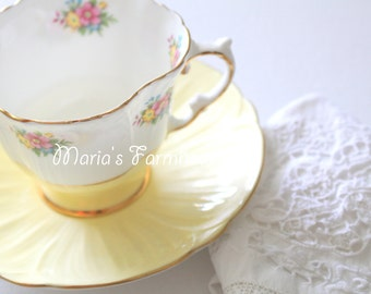 Vintage, English Bone China Tea Cup and Saucer Duo, Tea Party, Gifts for Her, Replacement China