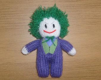 The Joker, Hand Knitted, Toy, Plushy, Mascot